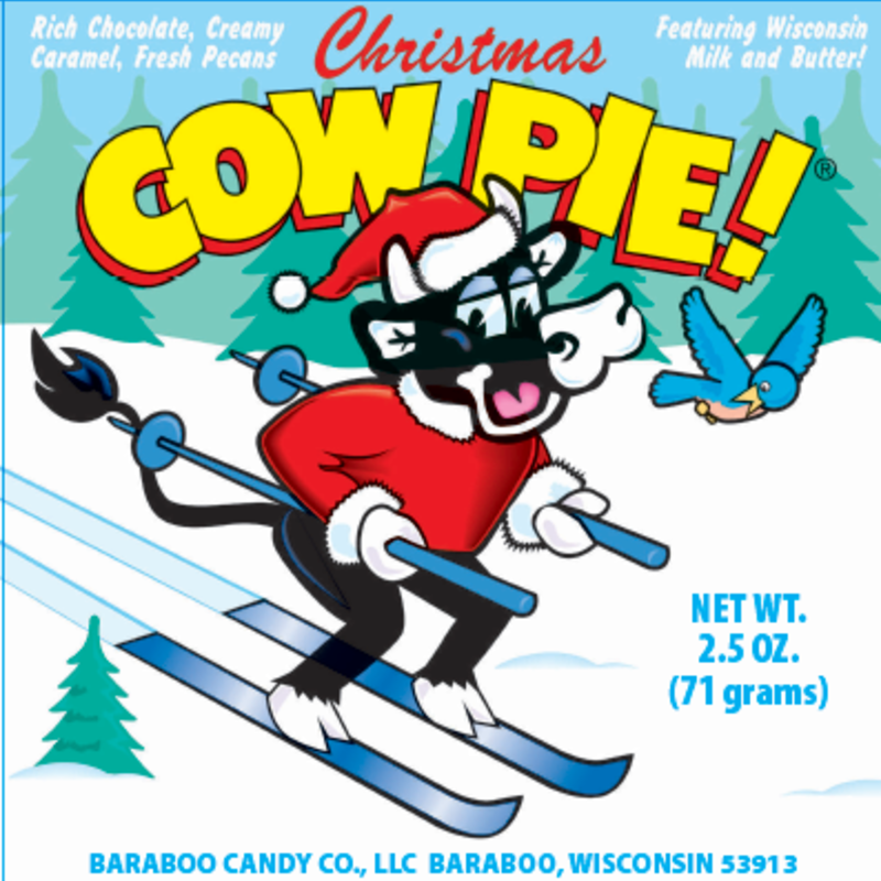 Baraboo Candy Company Christmas Chocolate Cow Pie