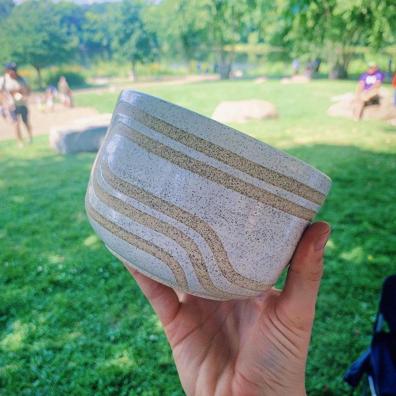 Large Bowl w/ Raw Lines