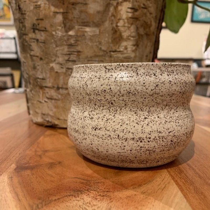 Ceramic Hourglass Shape - Satin White (Small)