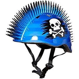 RASKULLZ HELMET PIRATE MOHAWK BLUE 50-54CM