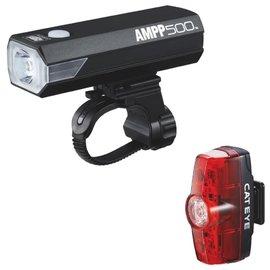 Cateye LIGHTSET AMPP 500 & RAPID MINI