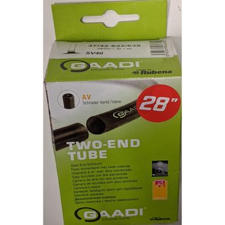 Gaadi TUBE 700 x 37/42 TWO ENDED SCHRADER VALVE