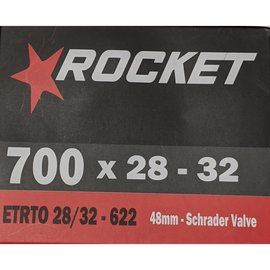 Rocket TUBE 700 x 28/32 48mm SCHRADER VALVE
