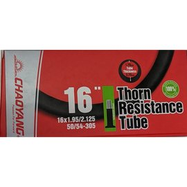 "Chaoyang TUBE 16"" x 1.95/2.125 40mm SCHRADER VALVE THORN RESISTANT"