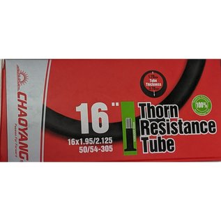 """Chaoyang TUBE 16"""" x 1.95/2.125 40mm SCHRADER VALVE THORN RESISTANT"""
