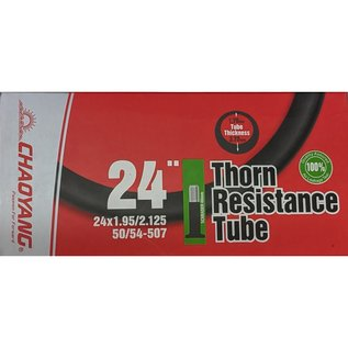"Chaoyang TUBE 24"" x 1.95/2.125 40mm SCHRADER VALVE THORN RESISTANT"