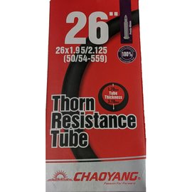"Chaoyang TUBE 26"" X 1.95/2.125 40mm PRESTA VALVE THORN RESISTANT"