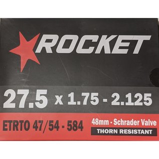 "Rocket TUBE 27.5"" x 1.75/2.125 SCHRADER VALVE THORN RESISTANT"