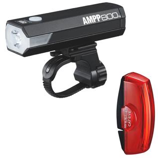 Cateye LIGHTSET AMPP 800 and RAPID X2 Black