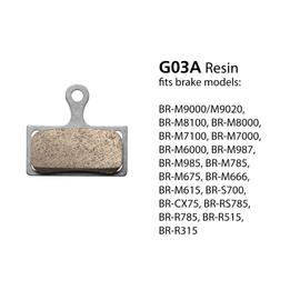 Shimano BRAKE PADS BR-M9000 RESIN & SPRING