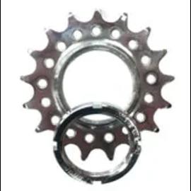 BIKELANE FIXED COG - Screw on, Cro-mo, 1/2 x 1/8 17T, Silver