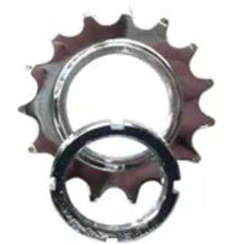 BIKELANE FIXED COG - Screw On, Cro-Mo, 1/2 x1/8 15T, Silver