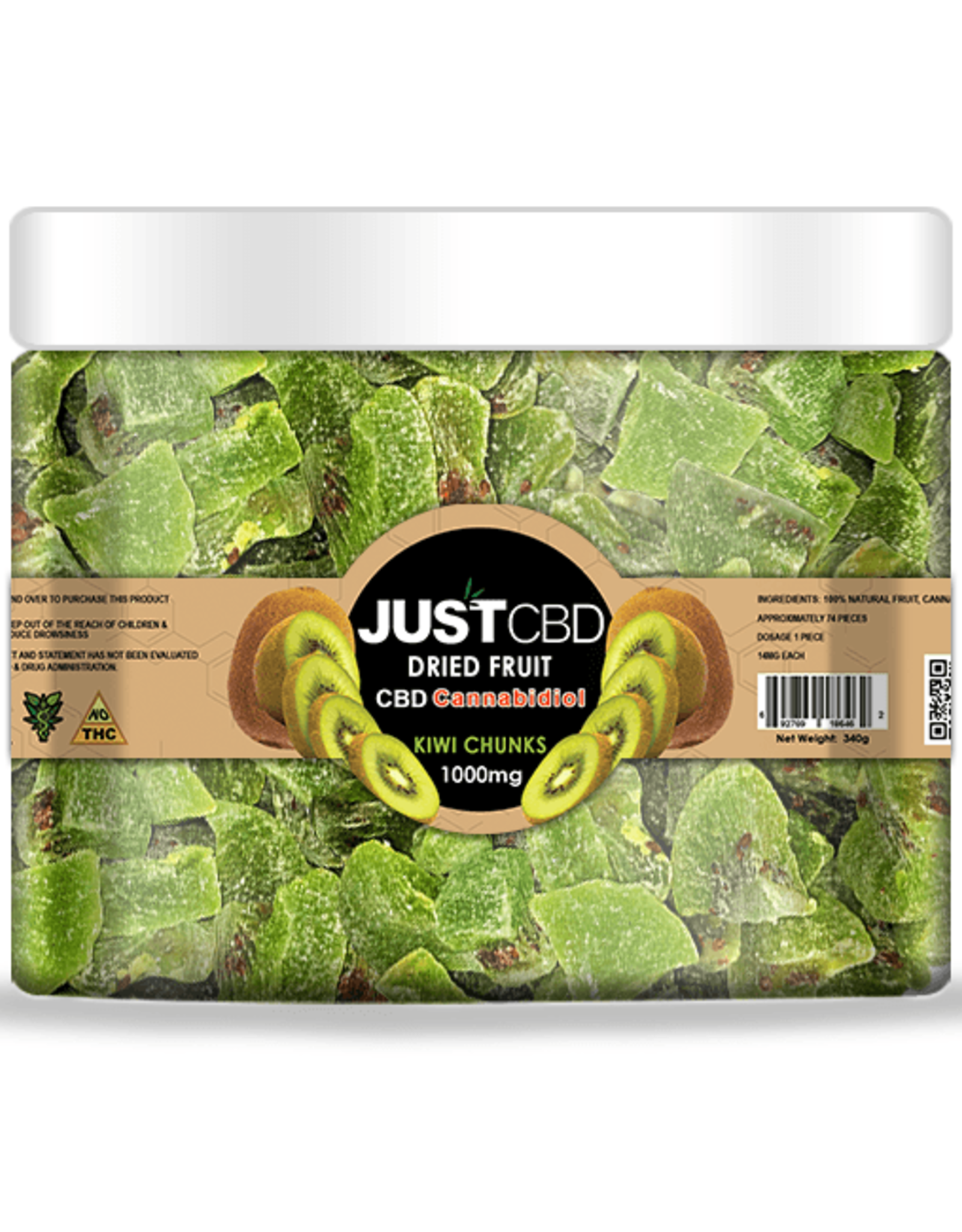 JustCBD Dried Fruit 1000mg