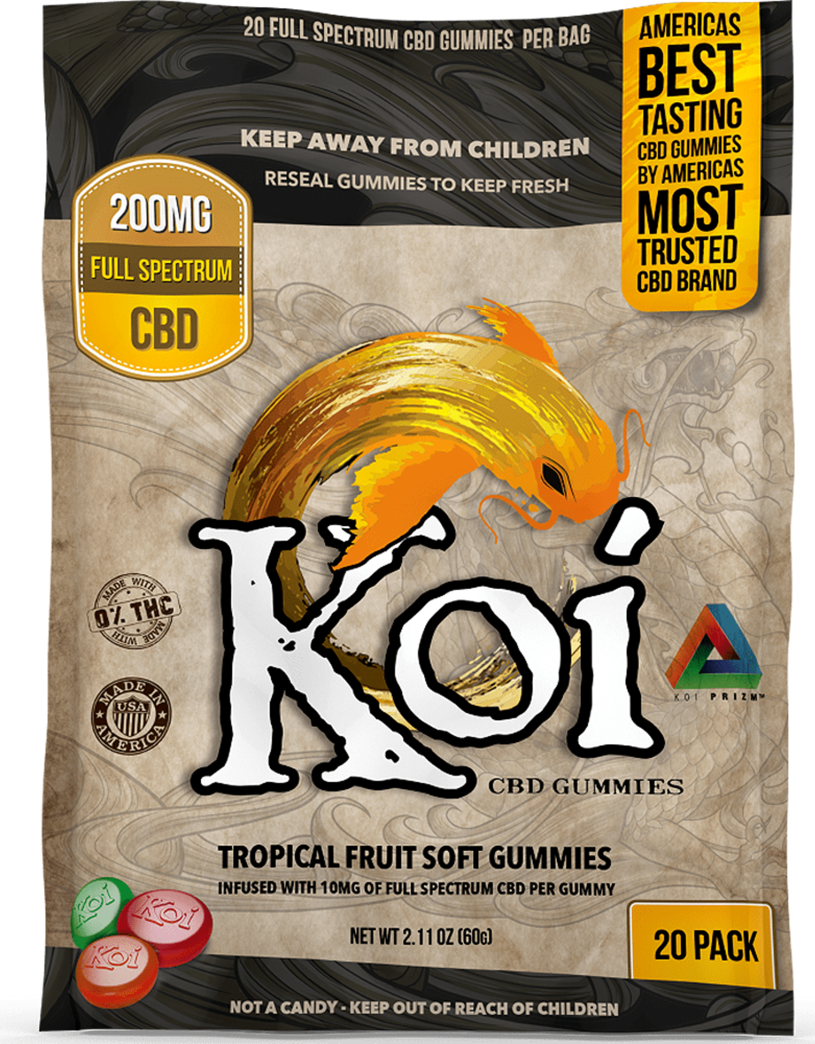 Koi CBD KOI Tropical Fruit Gummies