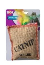 Spot Jute & Feather Catnip Sack