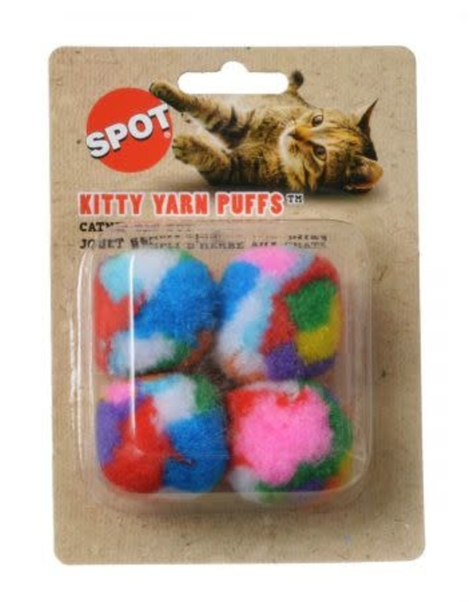 Spot Kitty Yarn Puffs Catnip Balls