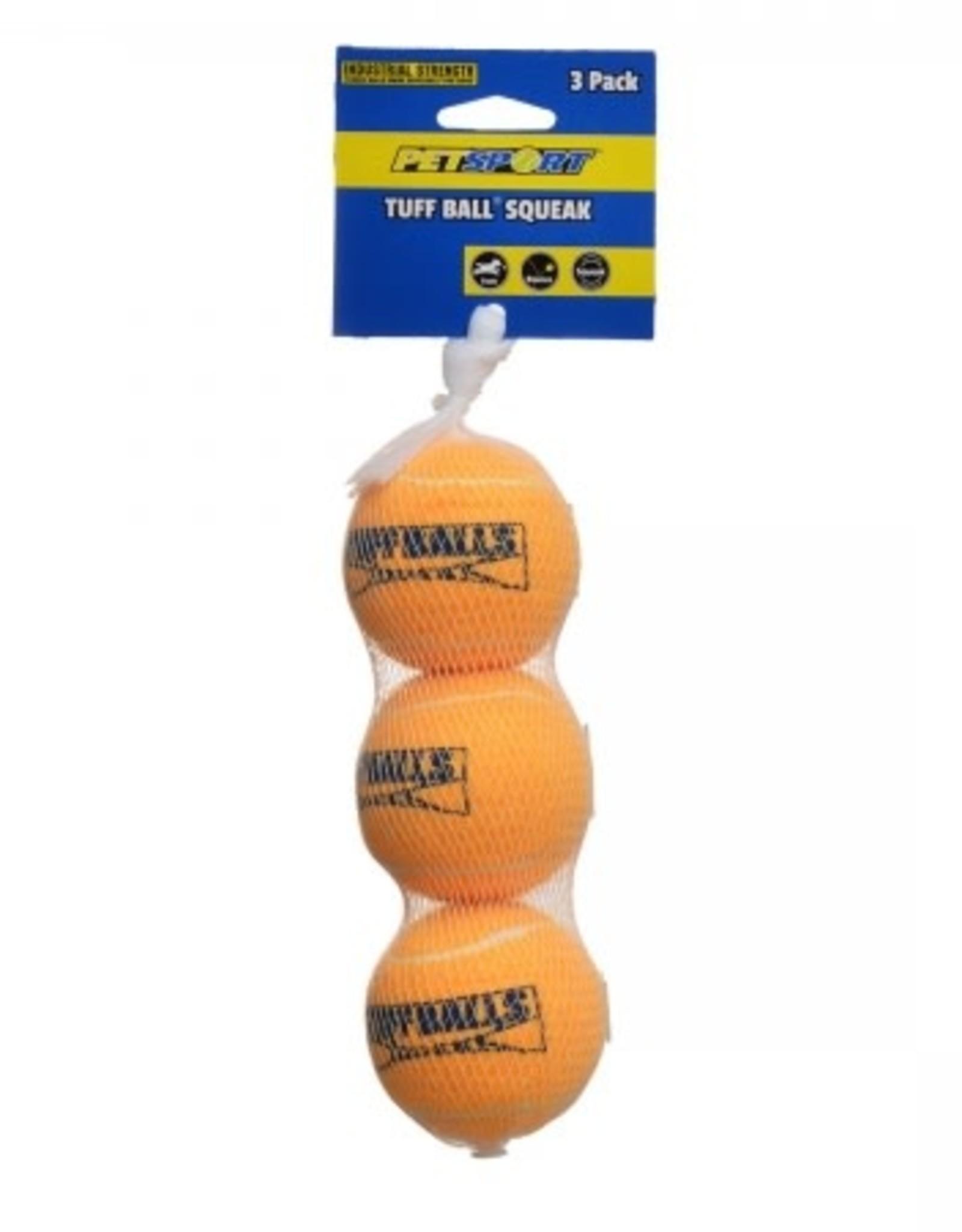 Tuff Ball Squeak Balls (3 pack)