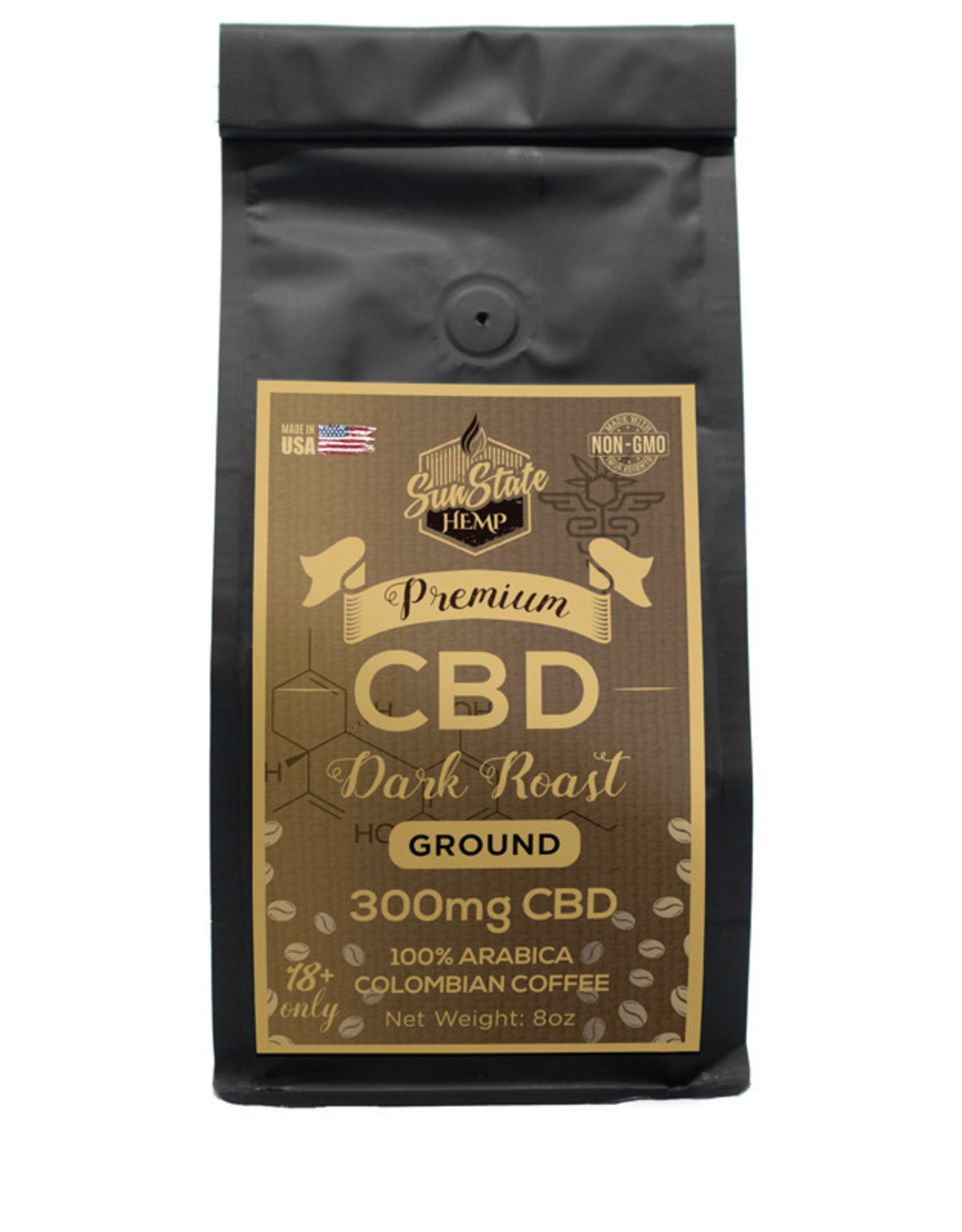 SunState 8oz Dark Roast Coffee 300mg