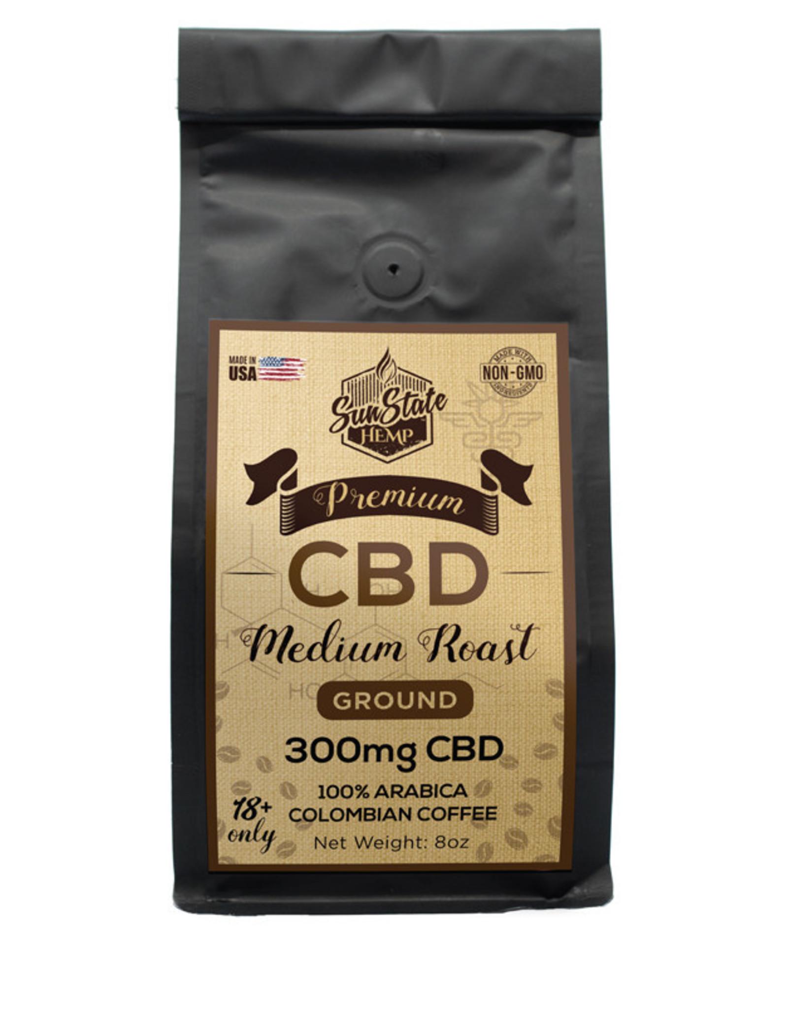 Sun State 8oz Medium Roast Coffee 300mg