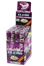 Cyclone  Clear The Purple Unknown Cones 2 per tube