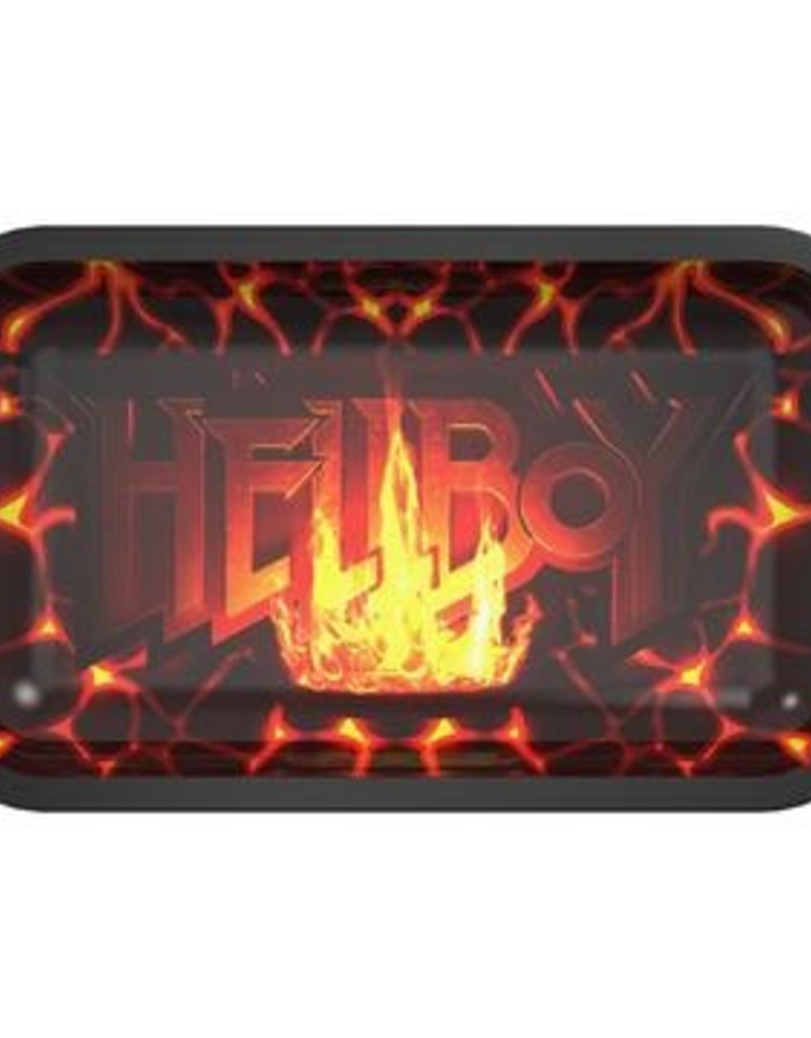 Famous Brandz Hellboy Fire Rolling Tray - Medium