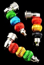 Metal Pipe Colorful Ball Sleeve with Cap Assorted Colors