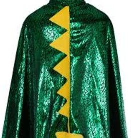 Great Pretenders Toddler Dragon Cape, Grn,metallic 2-3T