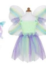 Great Pretenders Butterfly Dress / Wings / Wand Multi