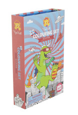 Tiger Tribe Sci-Fi Fun 3D Colouring Set
