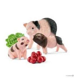 Schleich Schleich - Farm World Miniature Pig Mother & Piglets