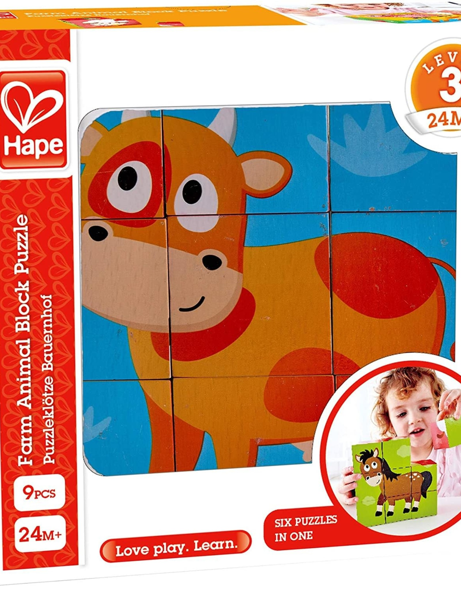 Hape Farm Animal Block Puzzle