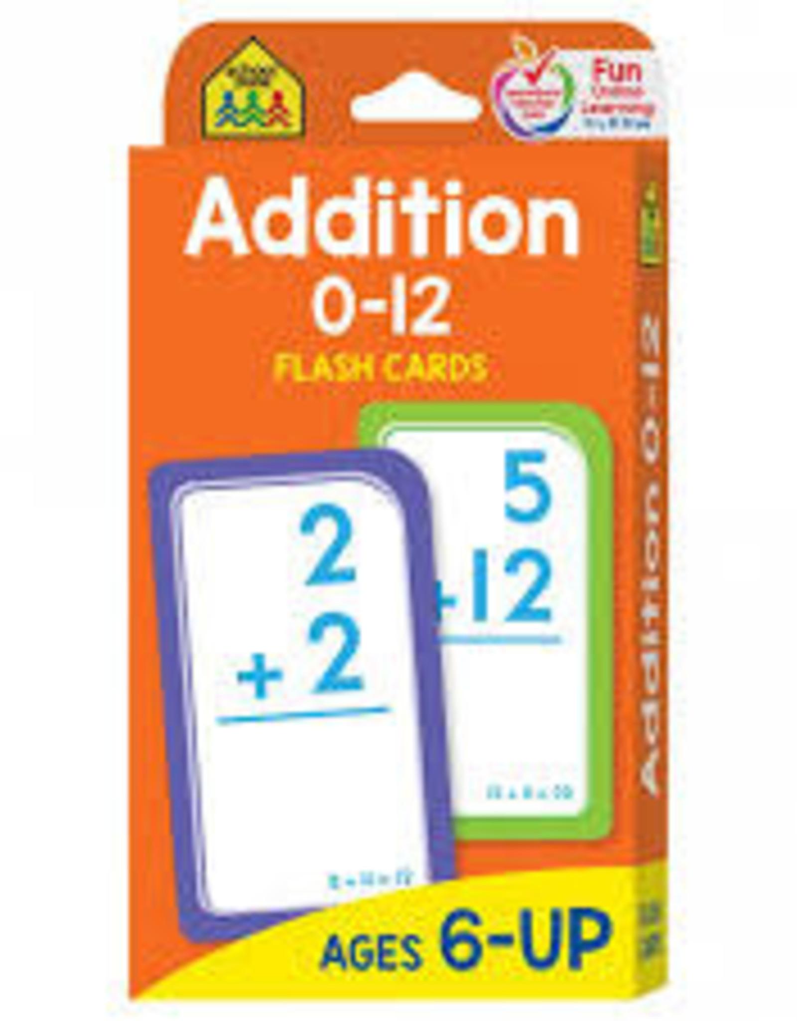 School Zone Addition Flash Cards