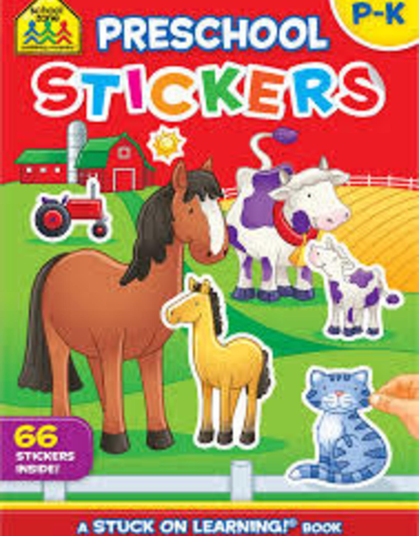 School Zone Pre-School Sticker Book