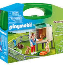 Playmobil Bunny Barn Carry Case S
