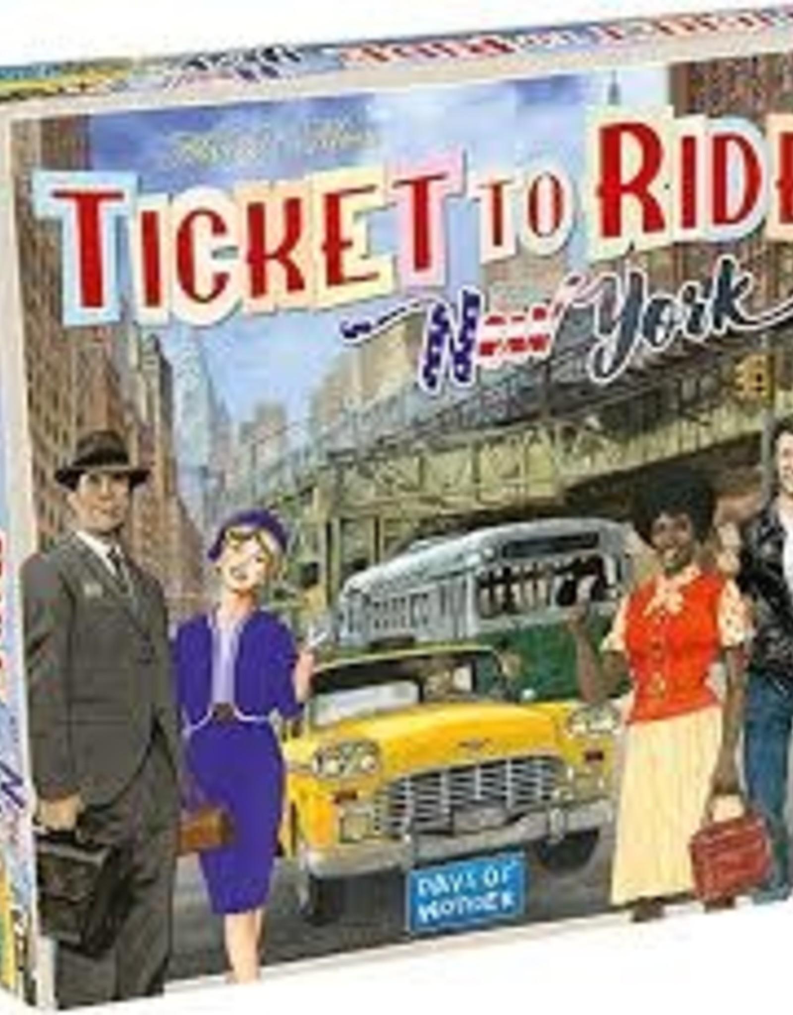 Days of Wonder Ticket to Ride - New York 1960