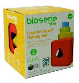Bioserie Toys Shape Sorting & Stacking Cube