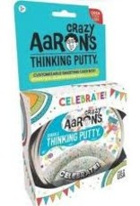 Crazy Aaron's Thinking Putty Crazy Aaron's Celebrate! 4''  Tin w/Greeting Card