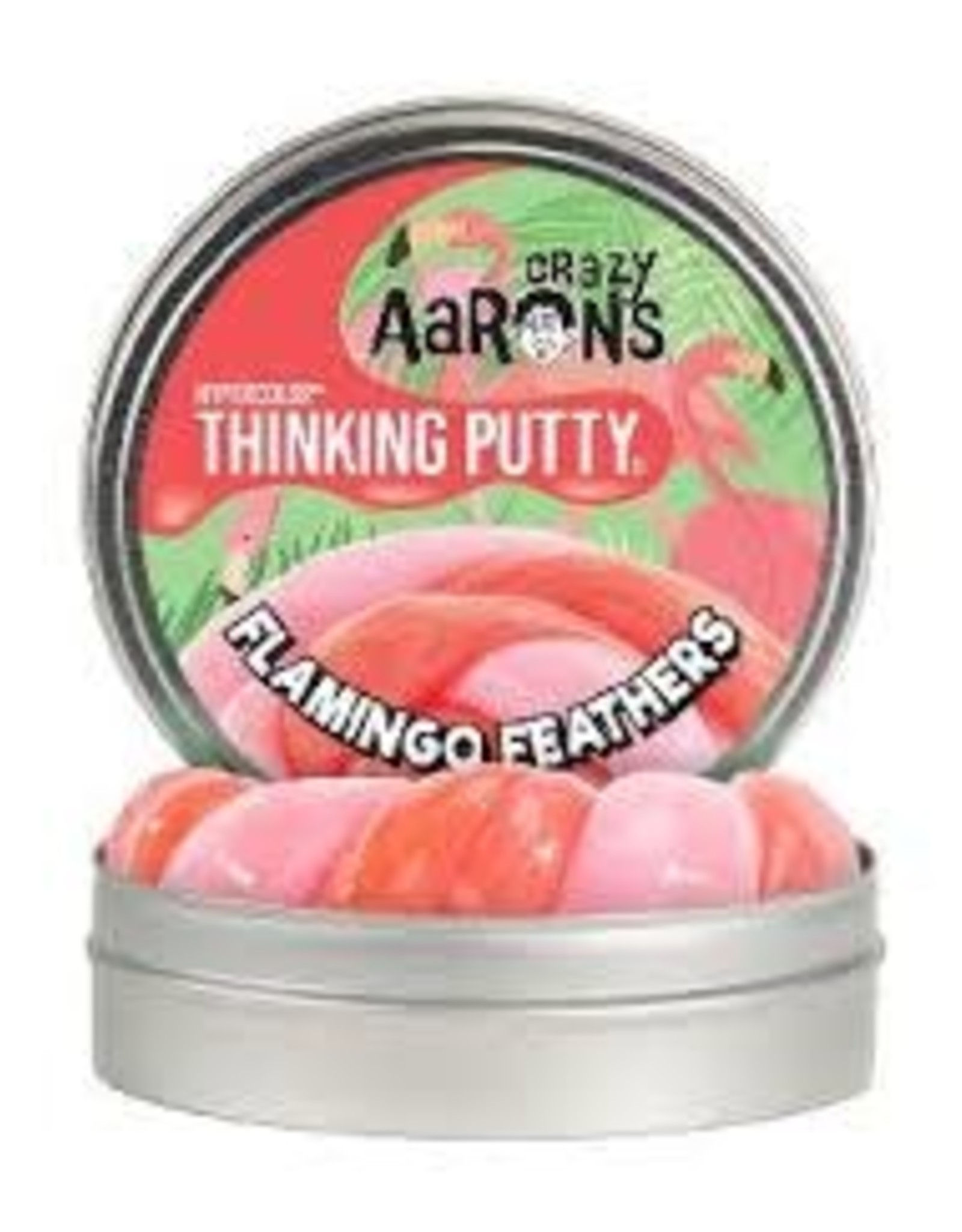 """Crazy Aaron's Thinking Putty Flamingo Feathers 4"""" Hypercolour"""