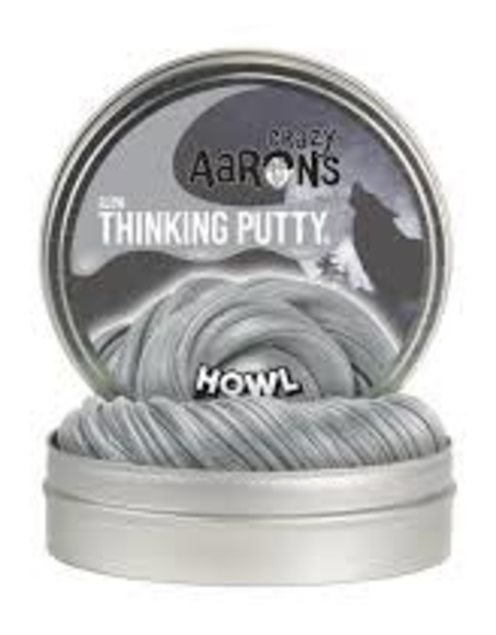 Crazy Aaron's Thinking Putty Howl 4'' Glow w/Moon Phase Cards