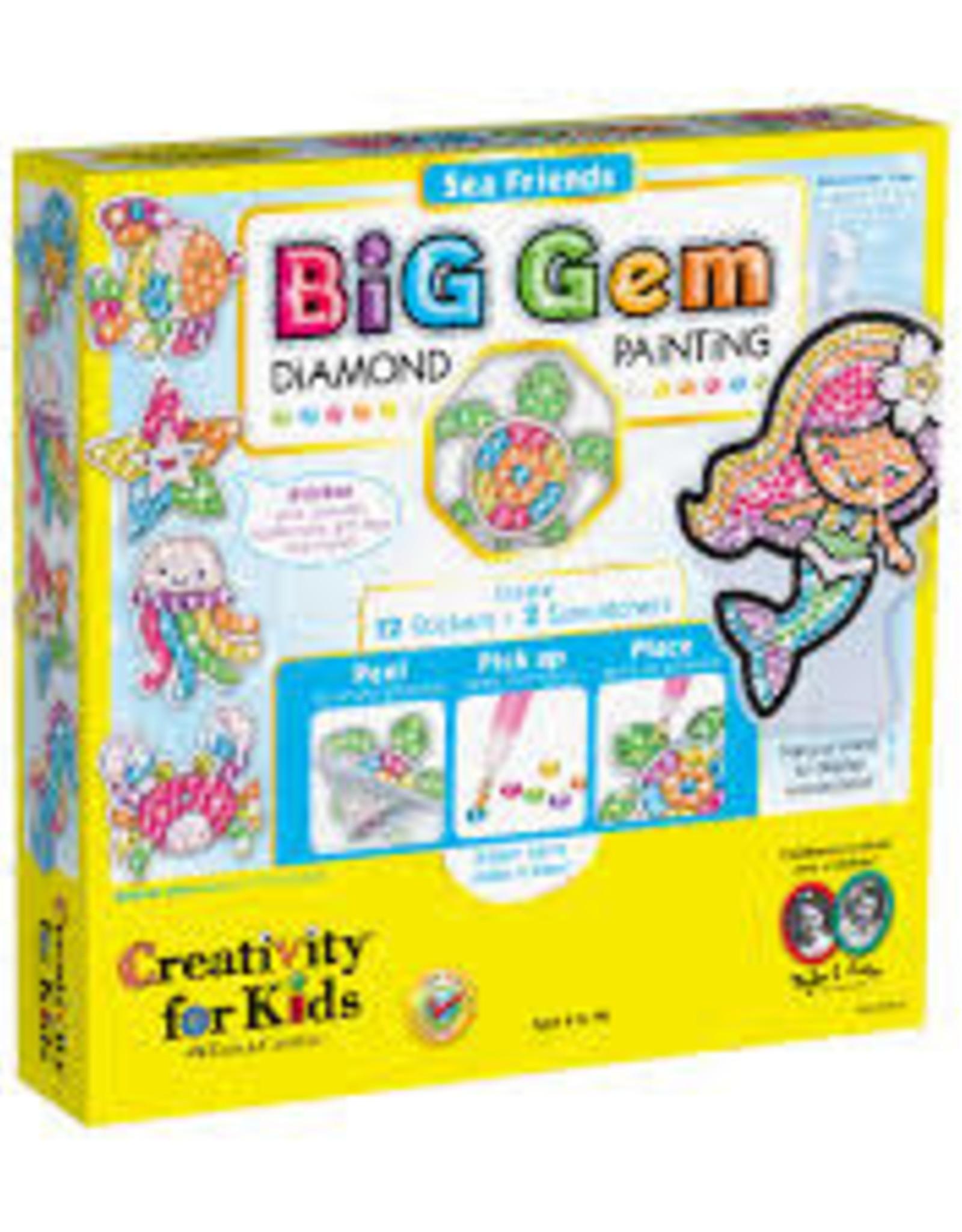 Creativity For Kids Big Gem Diamond Painting Sea Friends