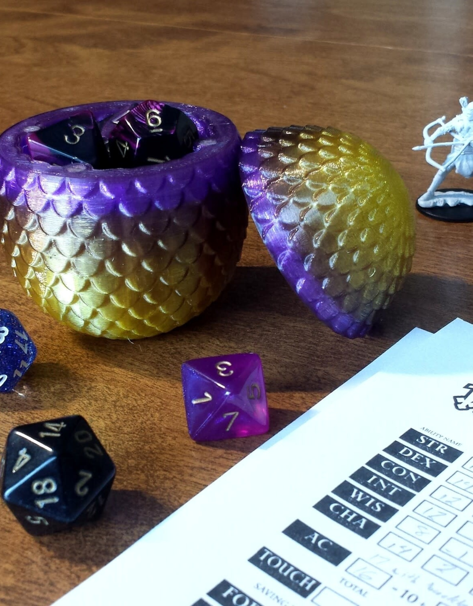 Fantasy by Numbers Dragon Egg - Small, Premium Storm