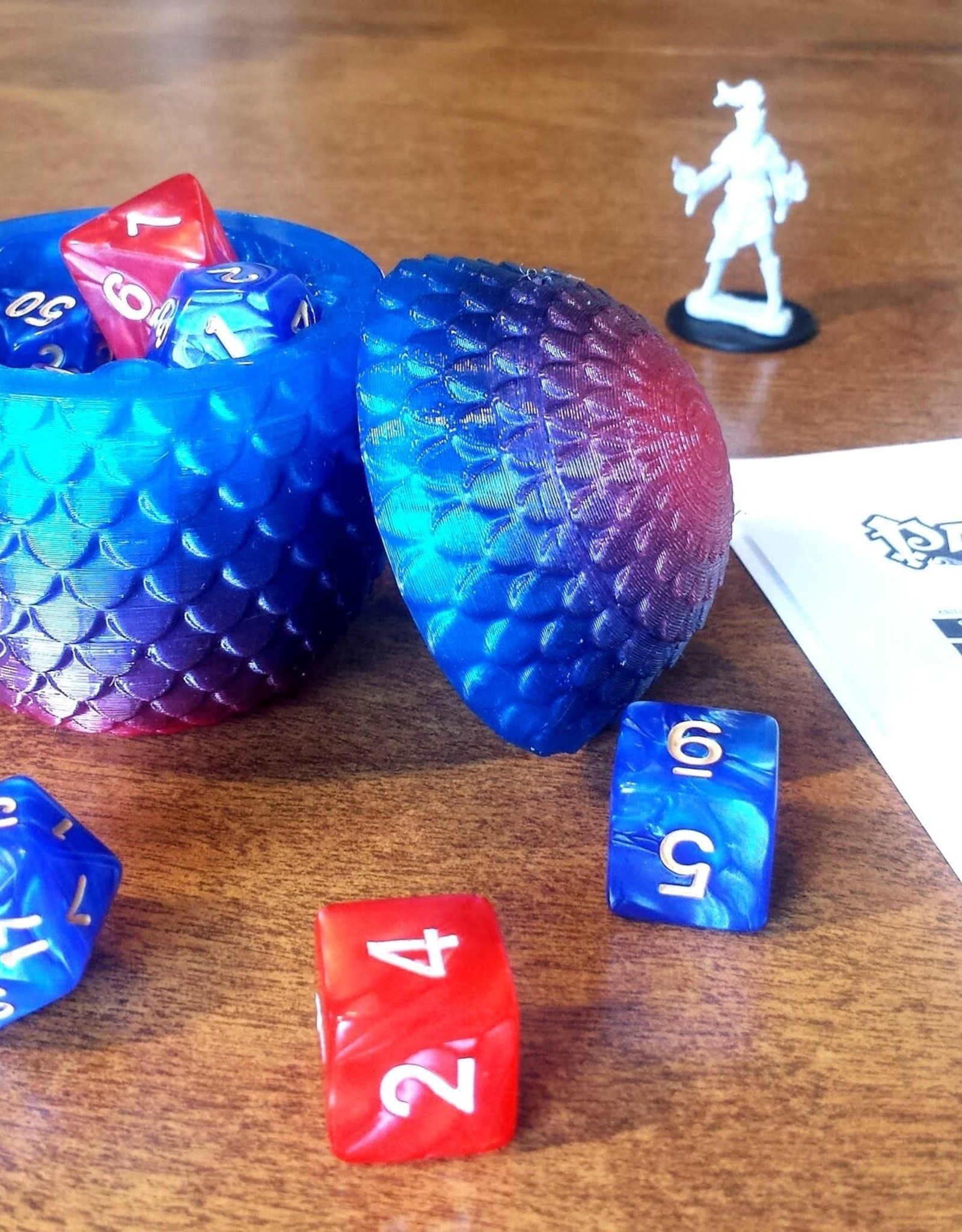Fantasy by Numbers Dragon Egg - Small, Premium Frostfire