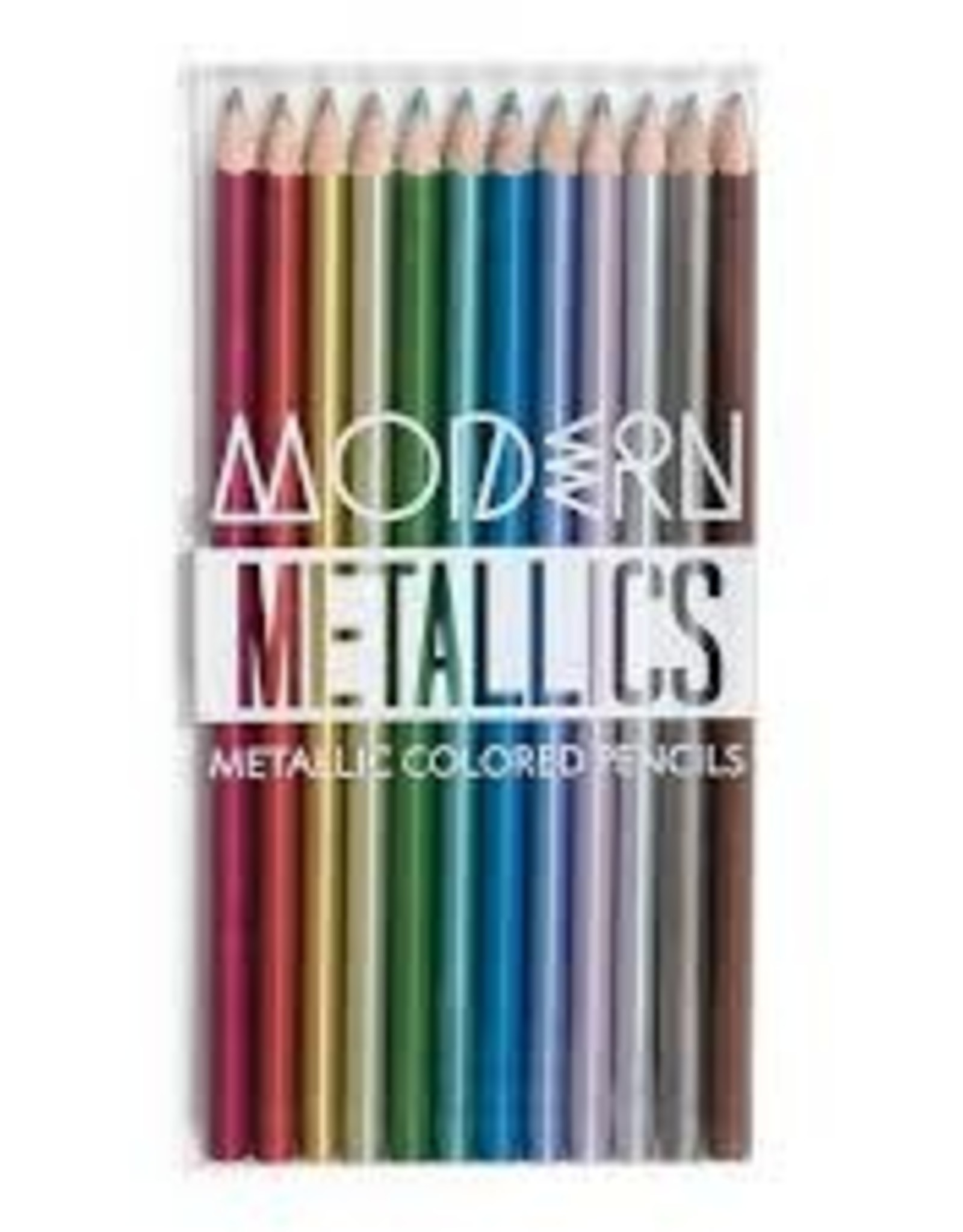 OOLY MODERN METALLIC COLORED PENCILS - SET OF 12