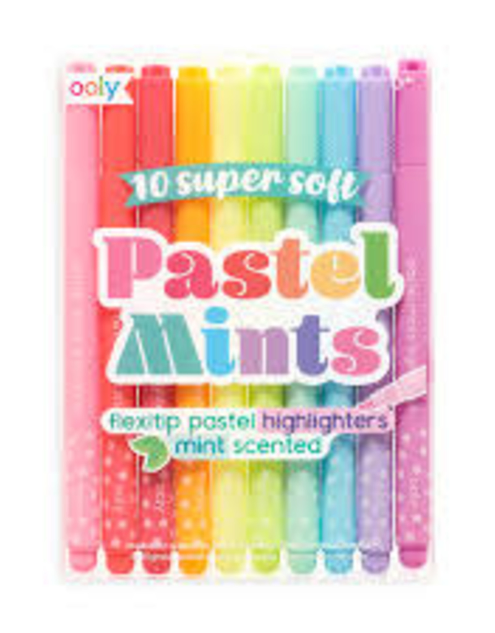 OOLY PASTEL MINTS SCENTED FLEXTIP HIGHLIGHTERS - SET OF 10