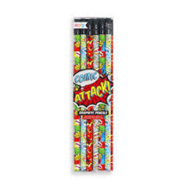 OOLY GRAPHITE PENCILS - COMIC ATTACK - SET OF 12