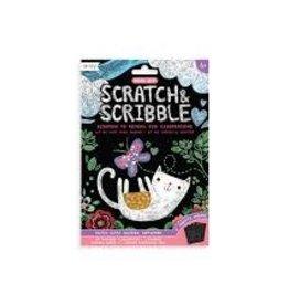OOLY MINI SCRATCH & SCRIBBLE ART KIT: CUTIE CATS