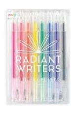 OOLY RADIANT WRITERS GLITTER GEL PENS - SET OF 8