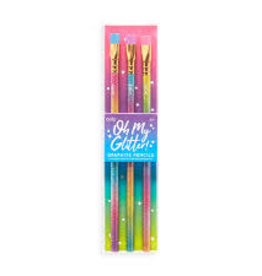 OOLY OH MY GLITTER GRAPHITE PENCILS - SET OF 3