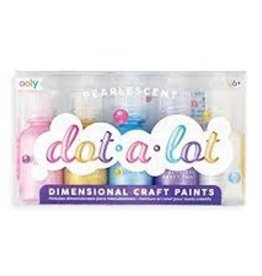 OOLY DOT-A-LOT DIMENSIONAL CRAFT PAINTS - SET OF 5 - PEARLESCENT