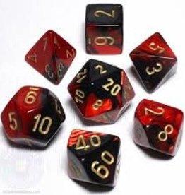 Chessex Dice - 7pc Smoke & Red
